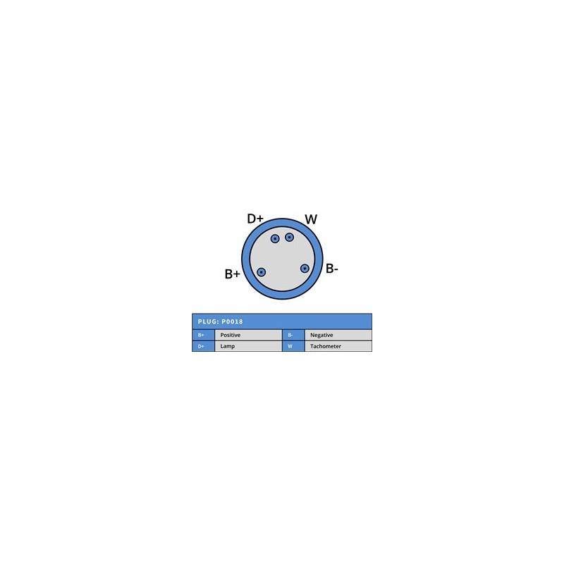 Alternator Mahle MG614 / 11.201.853 / 11.204.448 for Deutz Fahr / KHD