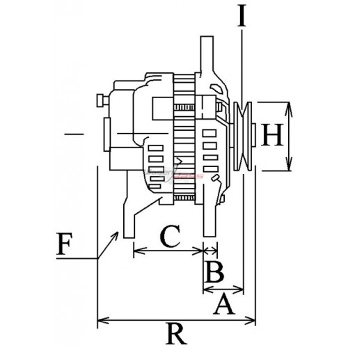 Alternator replacing AAK3869 / AAK4954 / AAK4990 for Deutz-Fahr / KHD