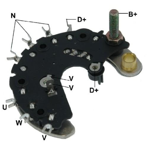 Pont de diode pour alternateur A11VI55 / A11VI56 / A11VI57 / A11VI58