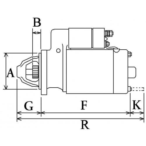 Anlasser ISKRA MS294 / 11.131.574 / IS1159 / AZF4147