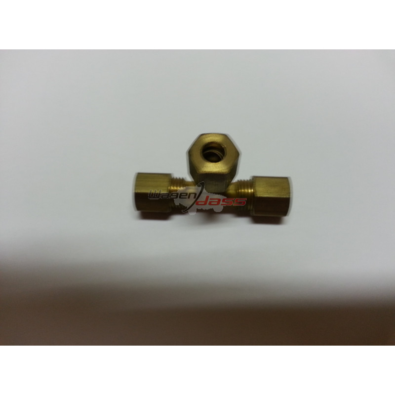 Raccord laiton 3 outs diameter 6mm