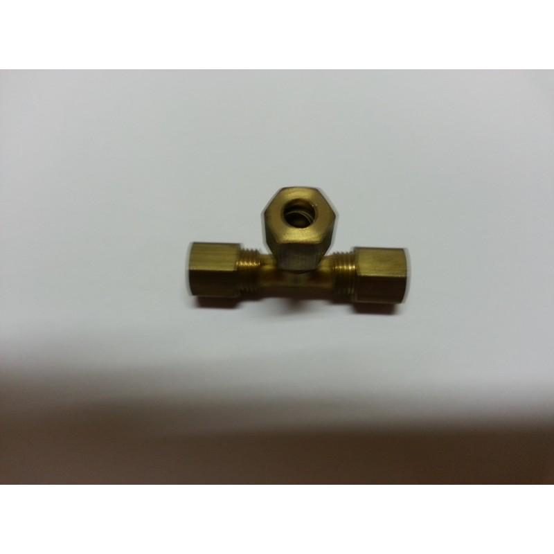 Raccord laiton 3 sorties diamètre 6mm