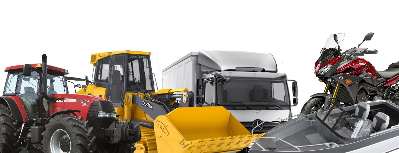 Machines Agricole, Machines Industriel, Poids lourds, remorques, bus, moto, marine, bateau, tracteur, pelles mécanique, chargeur,